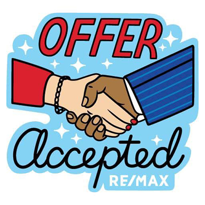Image of Offer Accepted and hands shaking