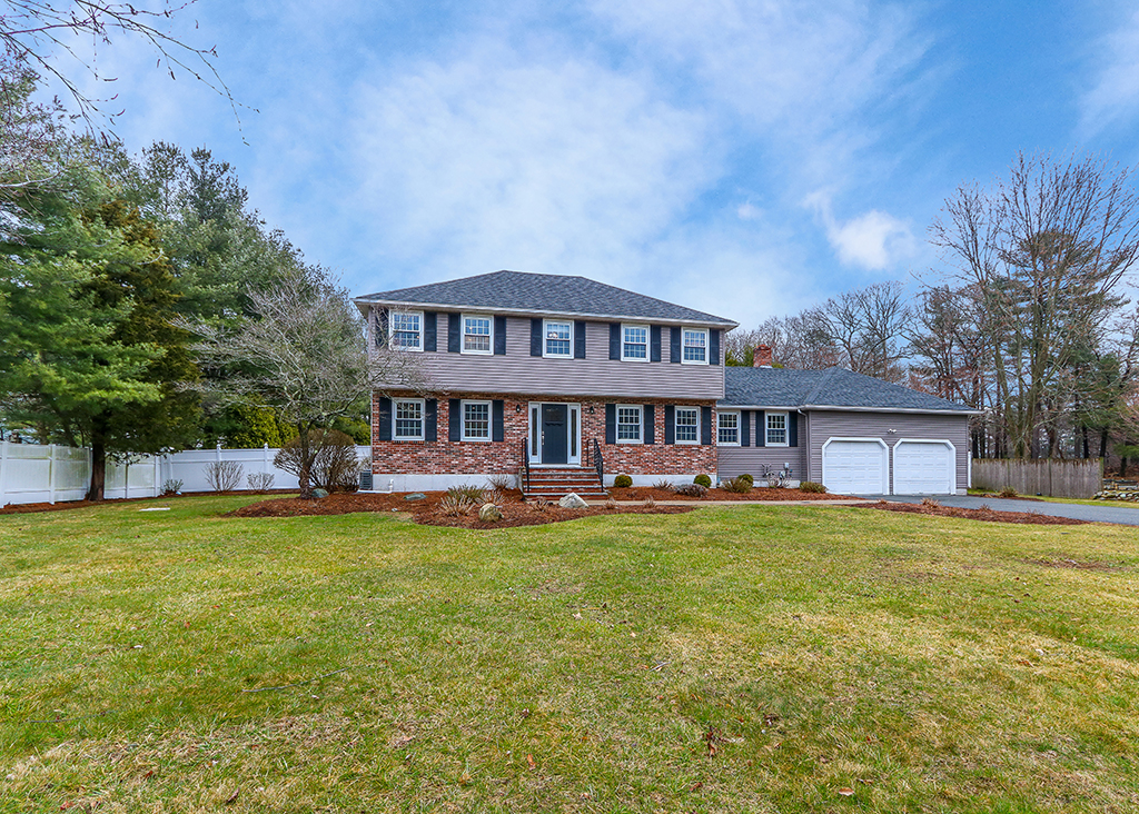 Front exterior photograph of 218 Weatherbee Drive in Westwood MA