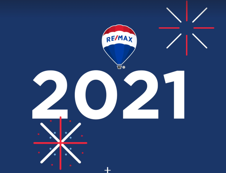 Photograph of ReMax New Years message